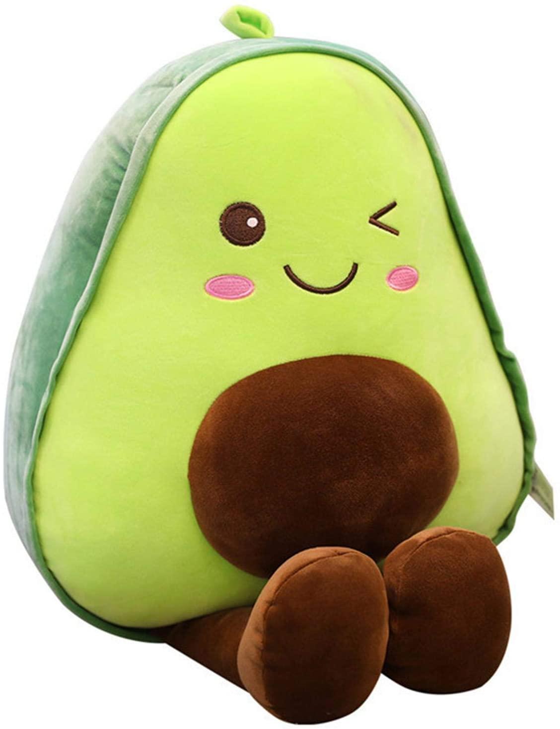 TOPATY Cute Avocado Plush Toy,Avocado Stuffed Pillow Gift for Girls Boys Friends