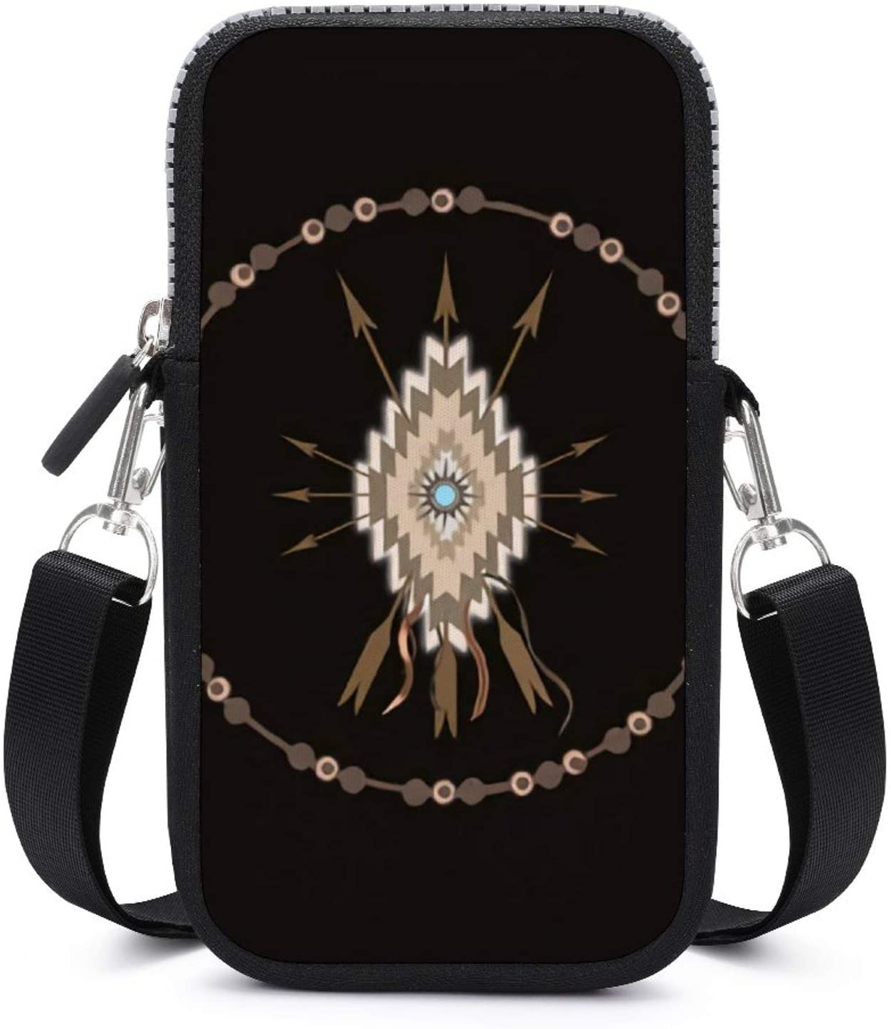 NiYoung Tribal Arrow Symbols Southwest Native American Crossbody Cell Phone Purse Bag Mini Cellphone Shoulder Bags Wallet for Women & Girls