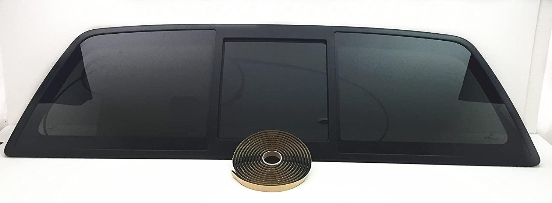 NAGD OE Sliding Back Window Back Glass Power Slider Compatible with Ford F150 Pickup 2004-2014/Lincoln Mark LT 2006-2008 Models
