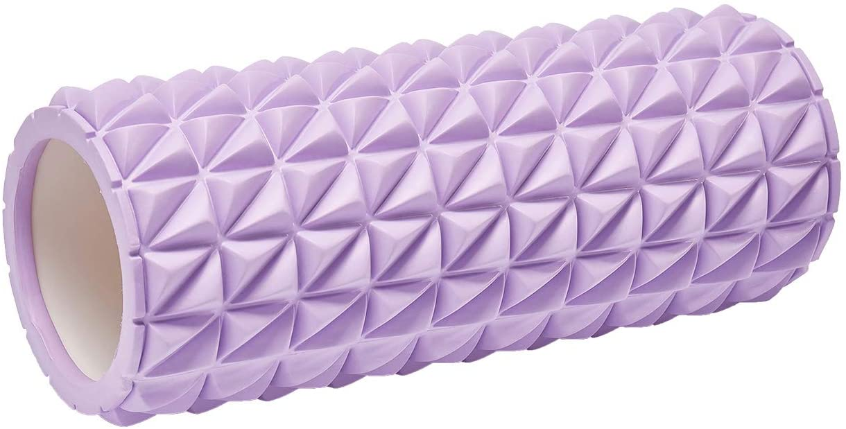 REEHUT Foam Roller - High Density Muscle Roller for Deep Tissue Massage, Physical Therapy & Relaxing (Purple)