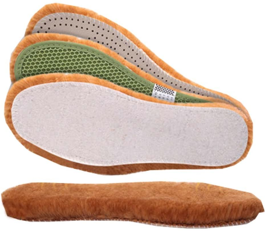 Wool Insoles,Artificial Wool Shoe Inserts,Winter Heated Shoe Insoles-3 Pairs,A5