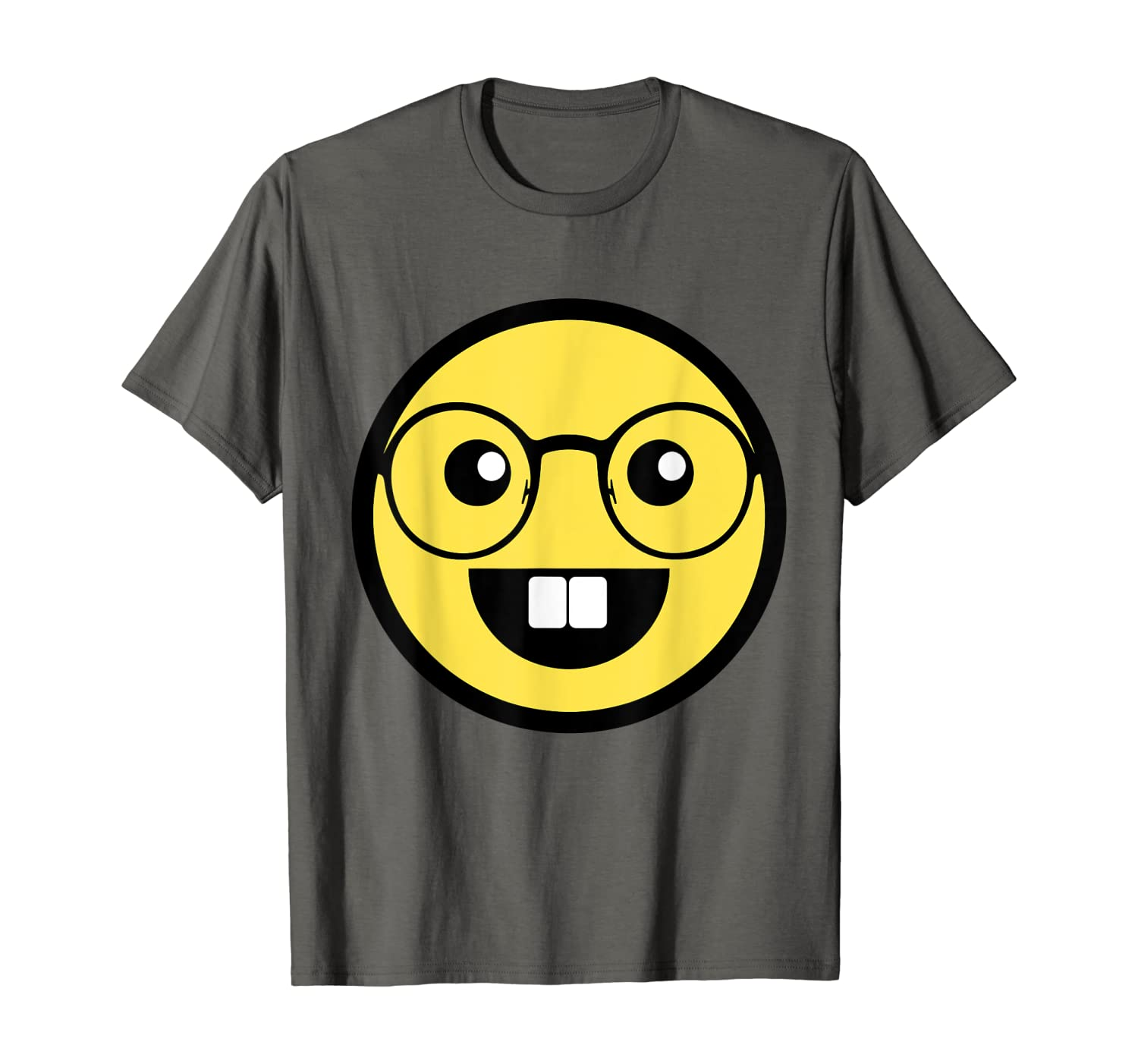 Funny Geek With Eye Glasses Emojis T-Shirt - Nerd Gift Idea