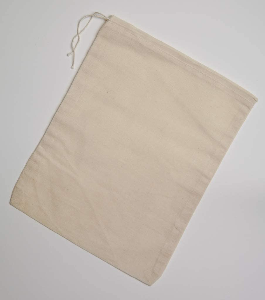 Made in the USA Cotton Muslin Bags 8x10 inches 10 count pack