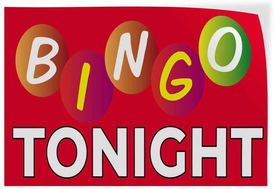 Bingo Tonight #1 Indoor Store Sign Vinyl Decal Sticker 8