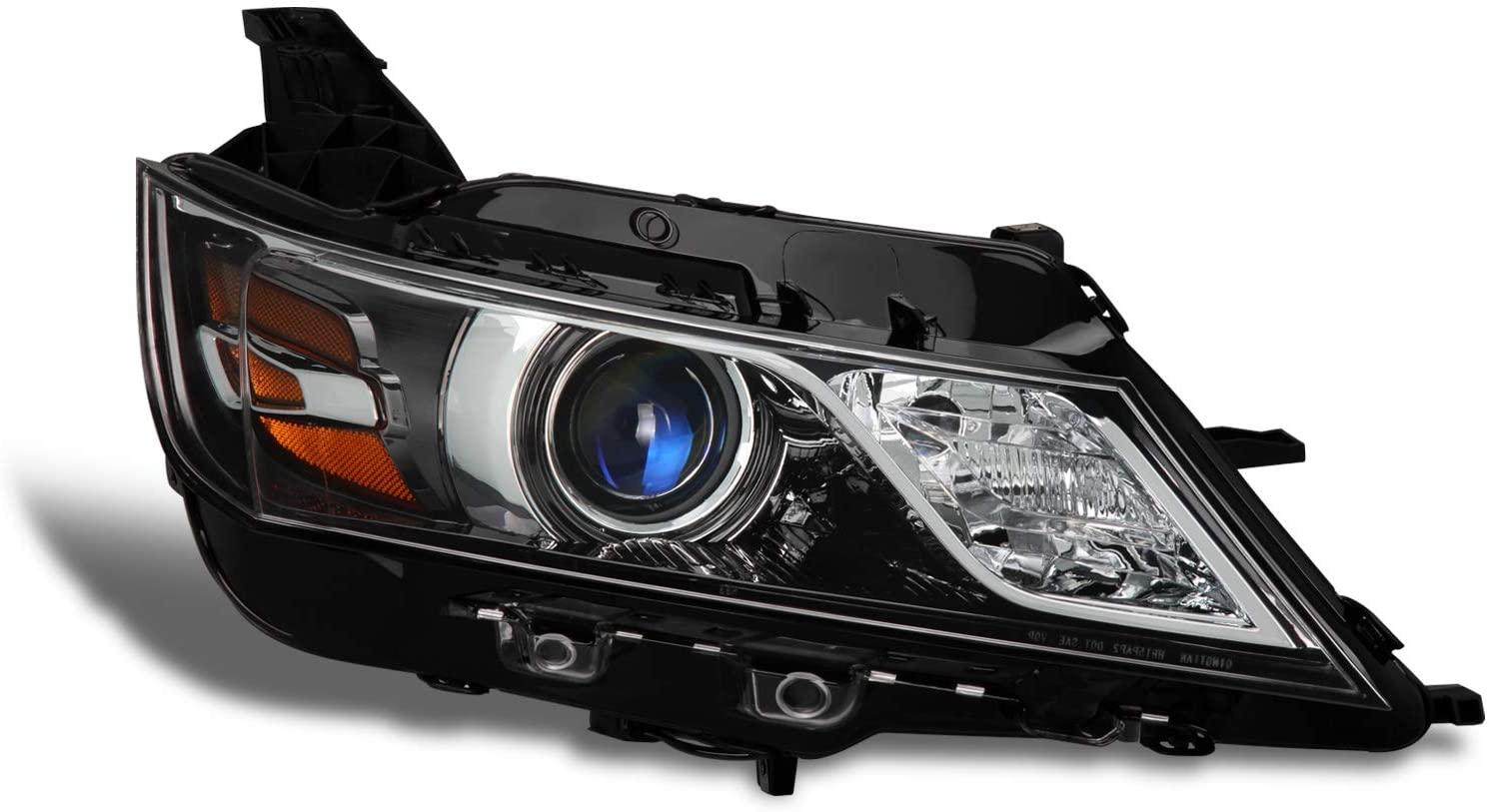Fits 2014 2015 2016 2017 2018 2019 2020 Chevy Impala [Halogen Style] Projector Black Headlight Passenger Right Side Headlamp