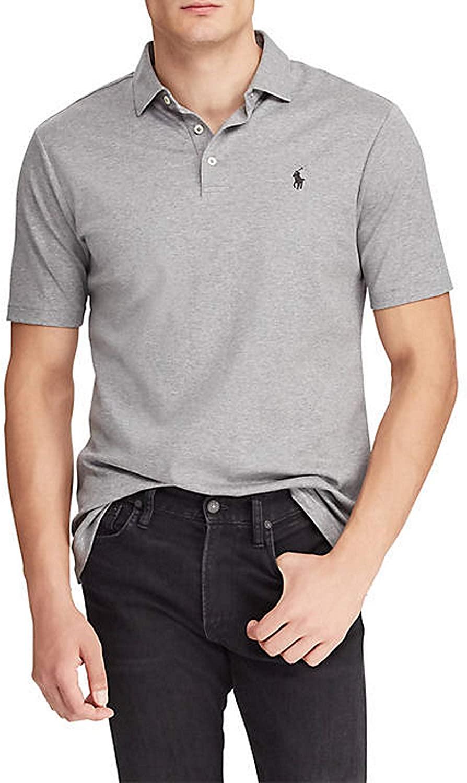 Polo Ralph Lauren Men's Polo Shirt Classic Fit 100% Cotton Grey Heather (X-Large)