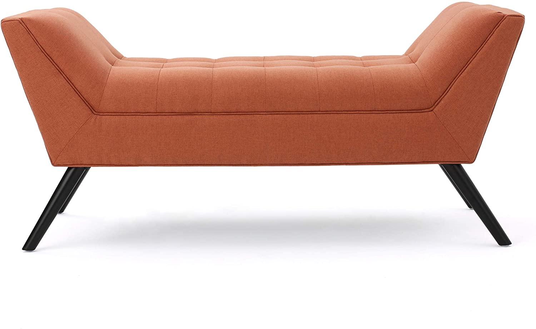 Christopher Knight Home Demi Fabric Bench, Orange