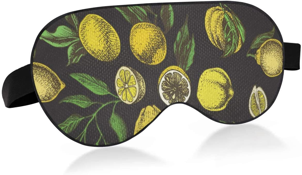 ALAZA Retro Lemon Tropical Sleep Mask for Women Men Eye Mask for Sleeping Funny Blackout Cooling Sleeping Masks