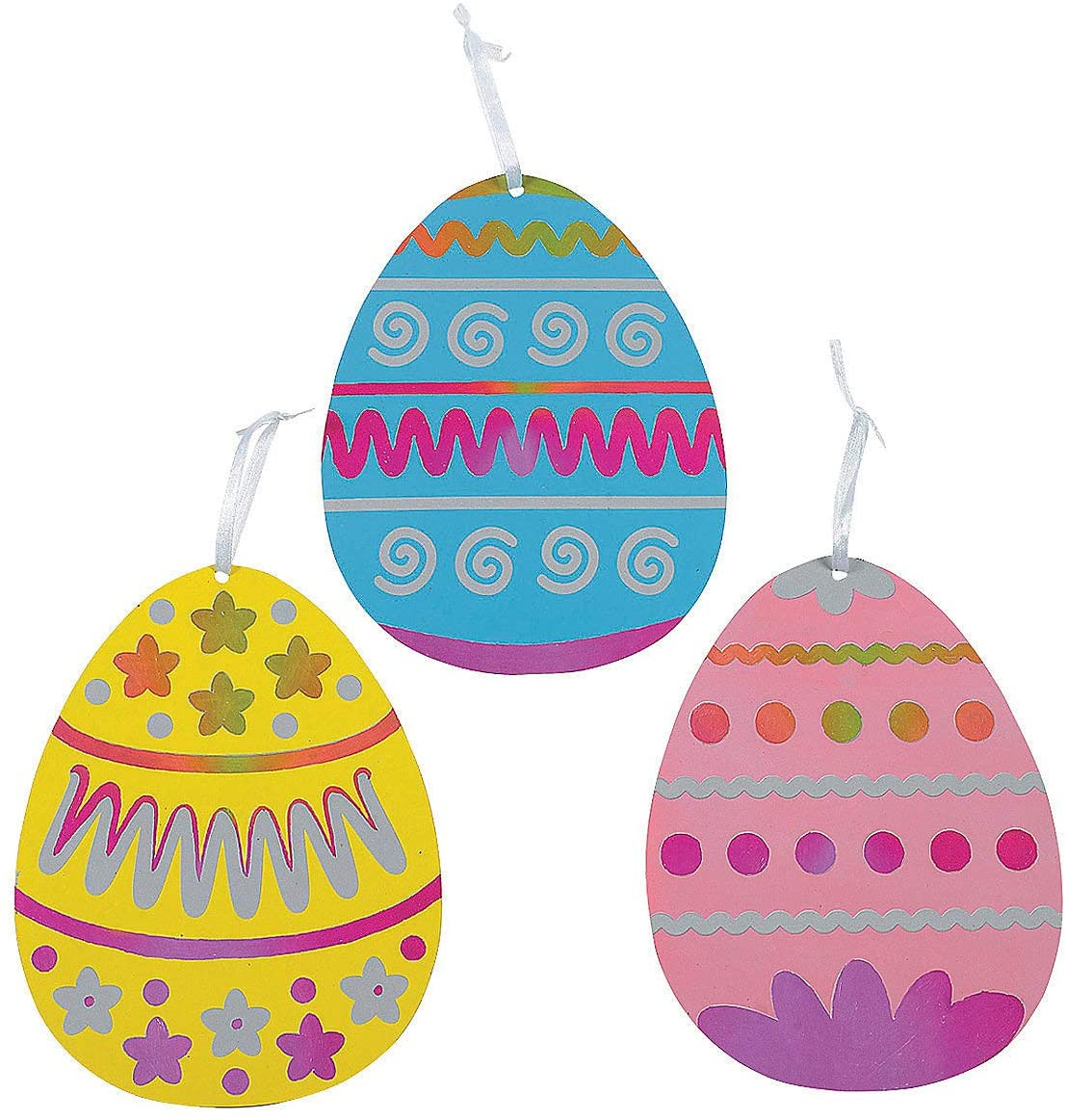 Magic Scratch Jumbo Easter Eggs (1Dz) - Crafts for Kids and Fun Home Activities