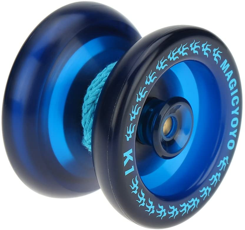 Carrfan- Professional Magic Yoyo K1 Spin ABS Yoyo 8 Ball KK Bearing with Spinning String for Kids