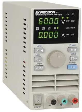 DC Power Supply, Digital, 60V, 8A, 7 in. H