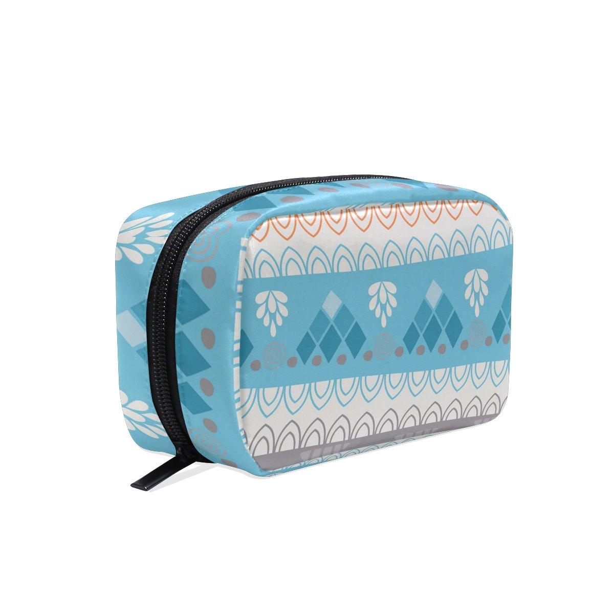 OREZI Toiletry Bag for women Girl Floral Stripe Cosmetic Bag Portable Travel Makeup Bag Organizer