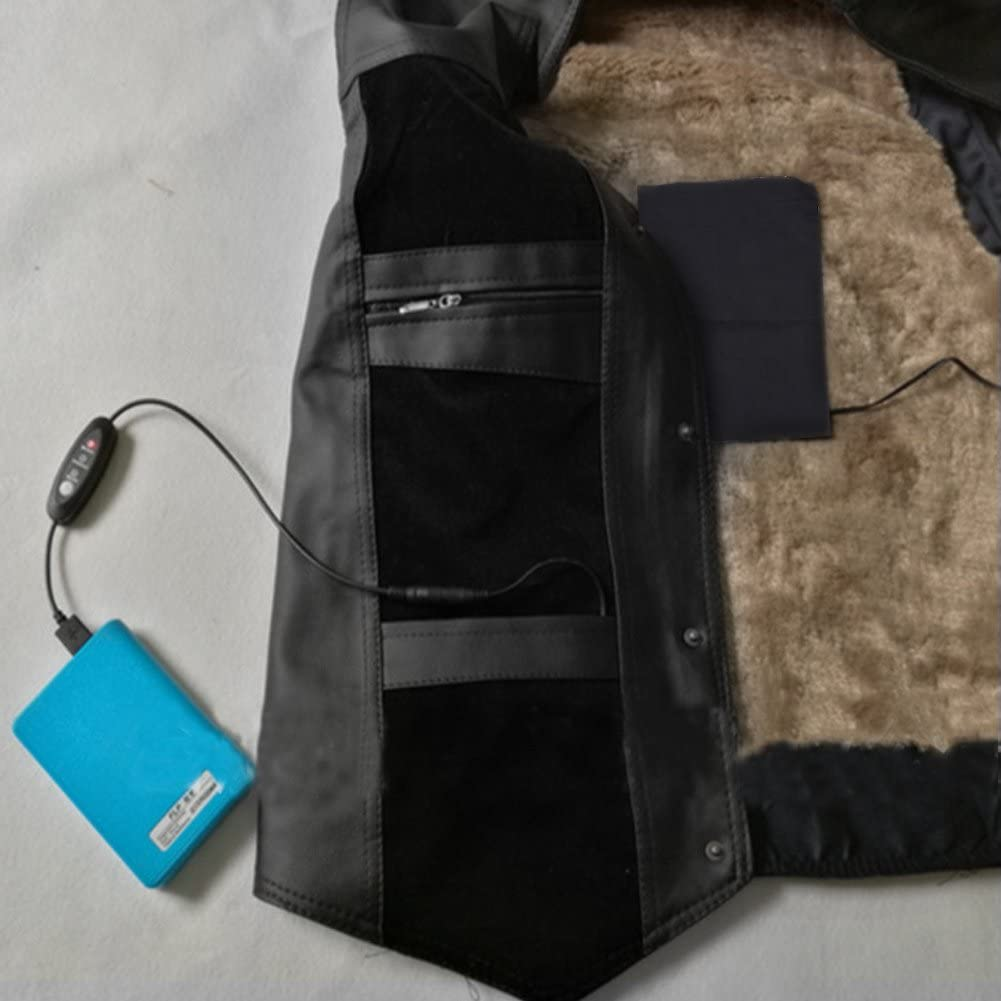 Bnineteenteam 5V 2A 8.5W Clothes Heating Pad Heat Pad Clothes Heating Pad for Clothing Electric USB Clothes Heating Pads Set for Outdoor Winter Camping Night