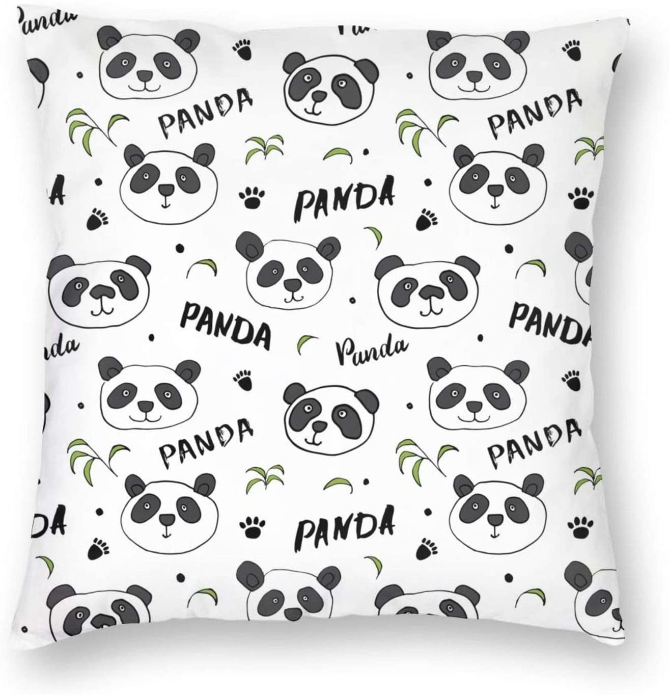 antkondnm Cute Panda Bear Throw Pillow Covers Decorative Pillow Cases Home Decor Square 18x18 Inches Pillowcases