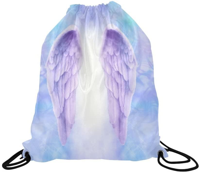 INTERESTPRINT Drawstring Bags Angel Art Painting Bag