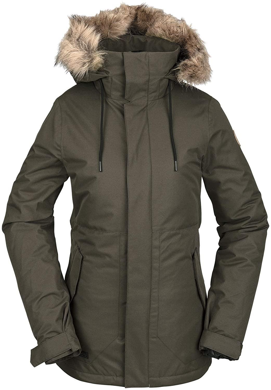 Volcom Women's Fawn Insulated Snowboard Ski Winter Hooded Jacket