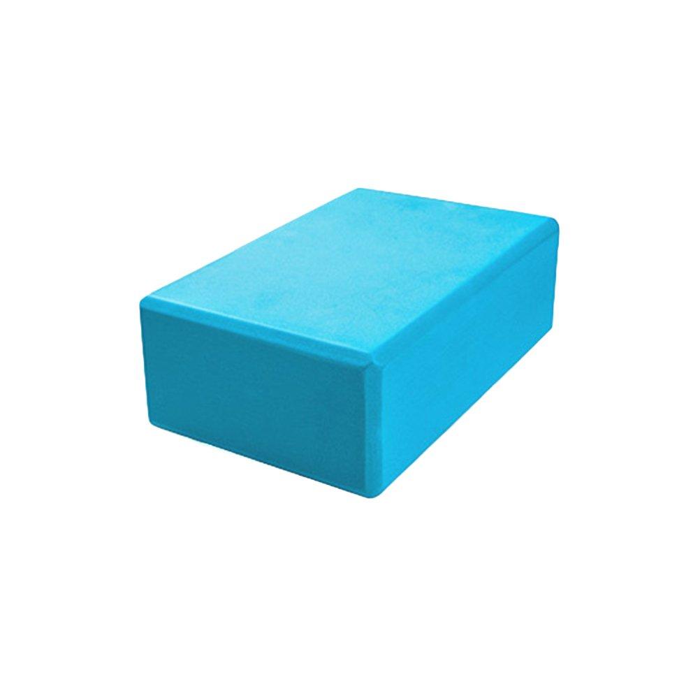 HEALIFTY Yoga Foam Block High Density EVA Foam Brick Exercise Fitness Gym Workout Stretching Aid (Blue)