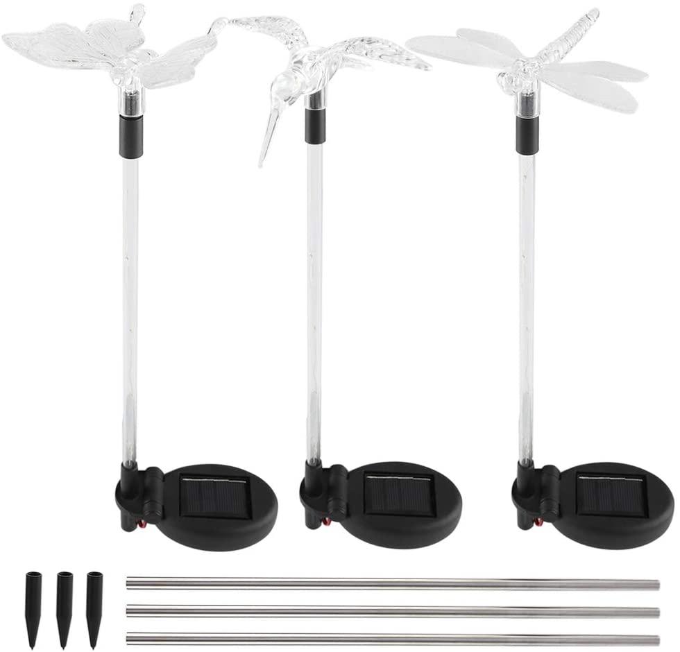koulate Solar Garden Light Outdoor LED Ground Light Waterproof Butterfly Bird Dragonfly Modern Path Lawn Lamp for Garden