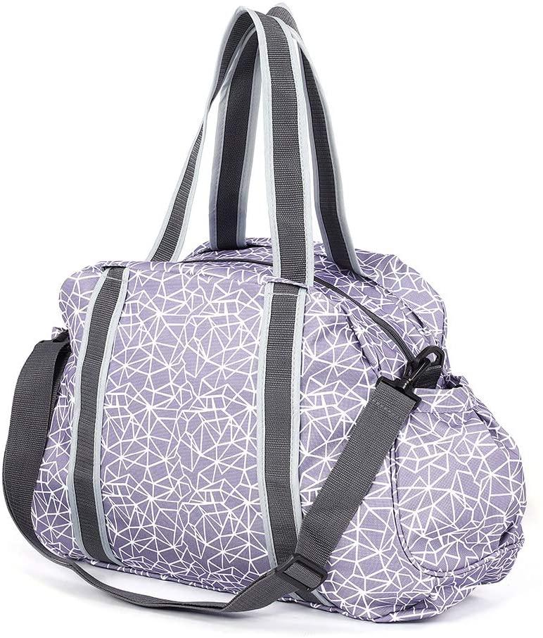 Felenny Sports Gym Bag Travel Yoga Gym Bag Multifunctional Oxford Cloth Yoga Mat Tote Storage Bag Carrier with Detachable Strap for Women