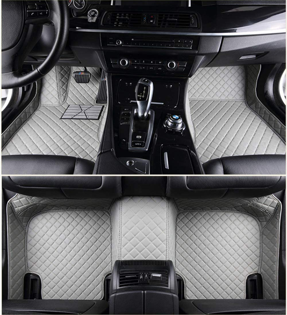 Jiahe for Lexus UX 2019 Car Floor Mats Full Covered Advanced Performance Leather Carpet Auto All Weather Protection Front & Rear Liner Set Gray