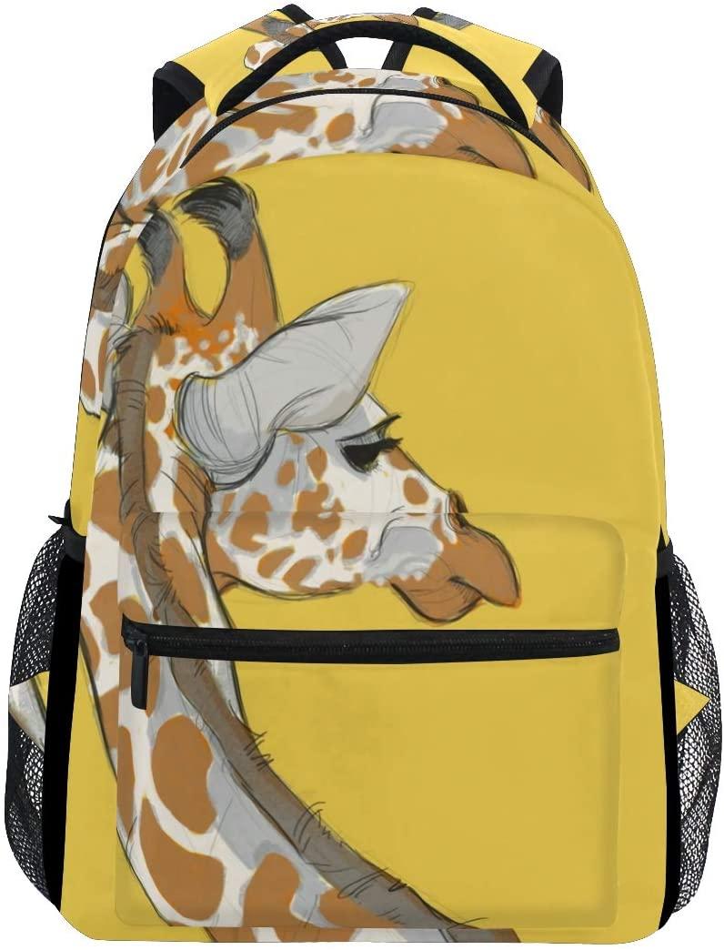 Stylish Animals Giraffes Africa Backpack- Lightweight School College Travel Bags, ChunBB 16 x 11.5 x 8