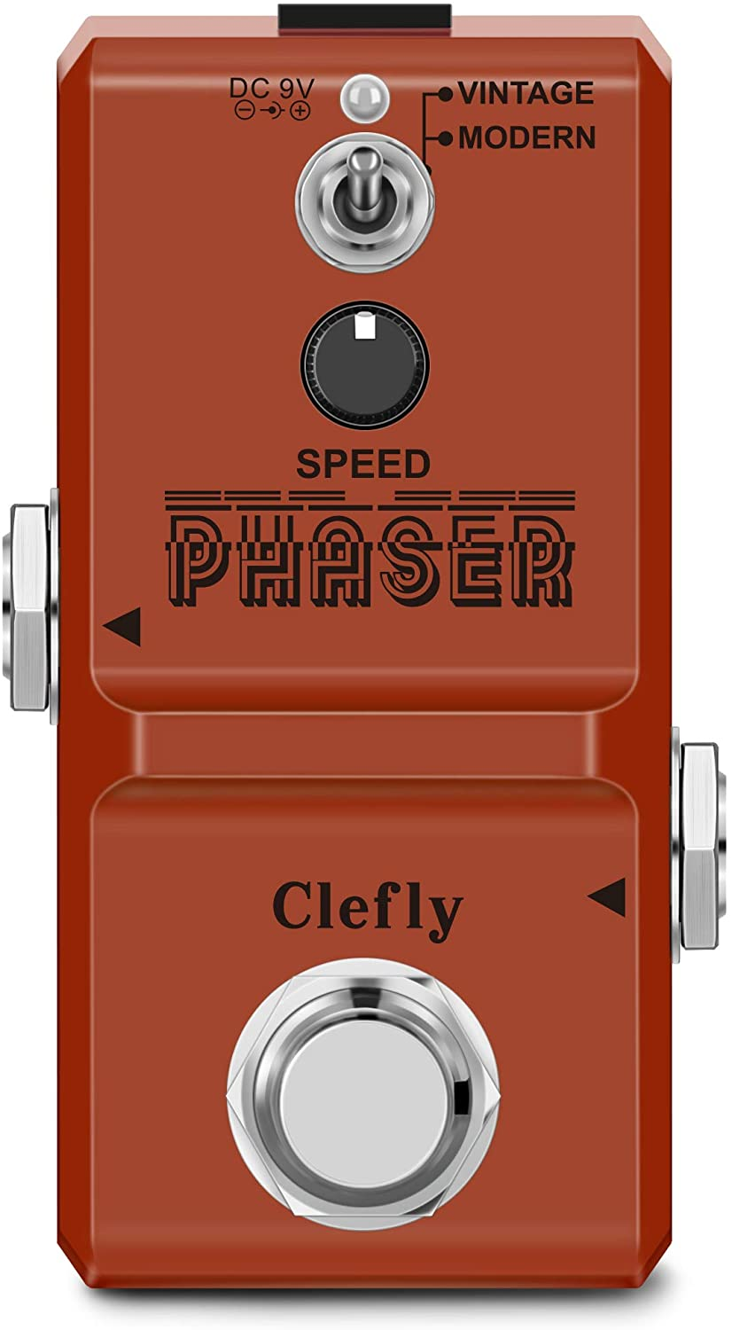 Clefly Guitar Phaser Pedal Analog Phase Effect Pedal True Bypass