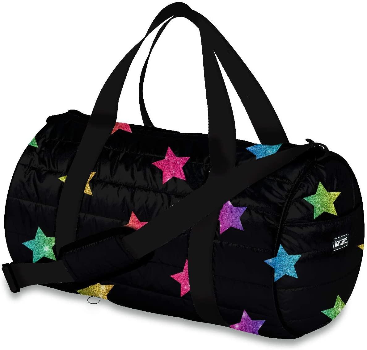 Top Trenz Duffel Bags (multi Glitter Star puffer)
