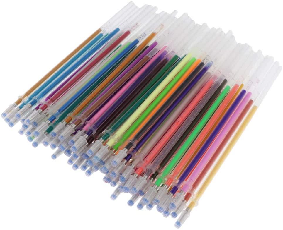 Harilla Colorful Gel Pen Rollerball Pen Refills Ballpoint Pen Replacement Refills - 60 Pieces
