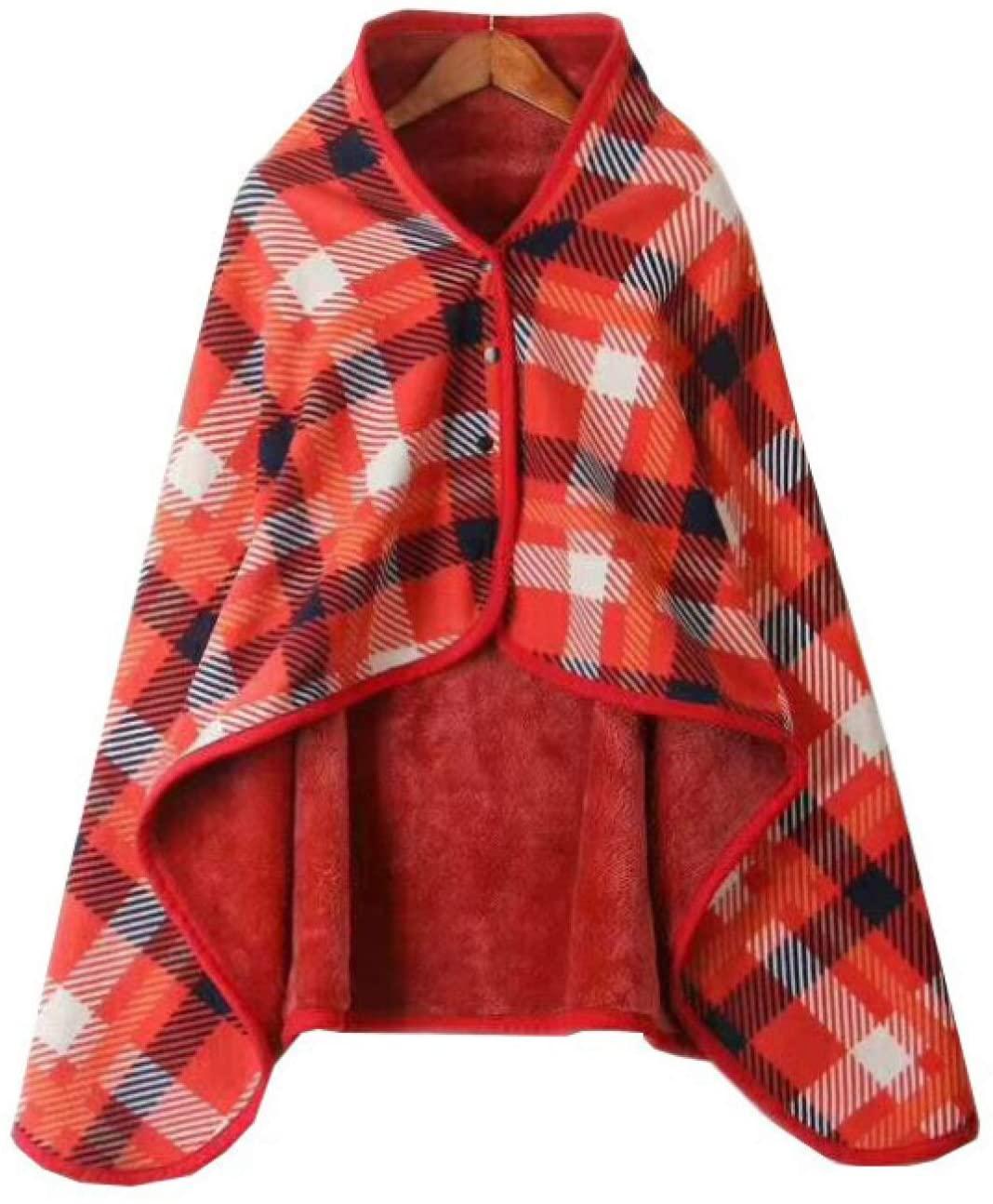 Fleece Wearable Blanket for Woman Soft Cozy Functional Lightweight Wearable Blanket Hoodie Elegant Blanket Shawl Blanket Sweatshirt