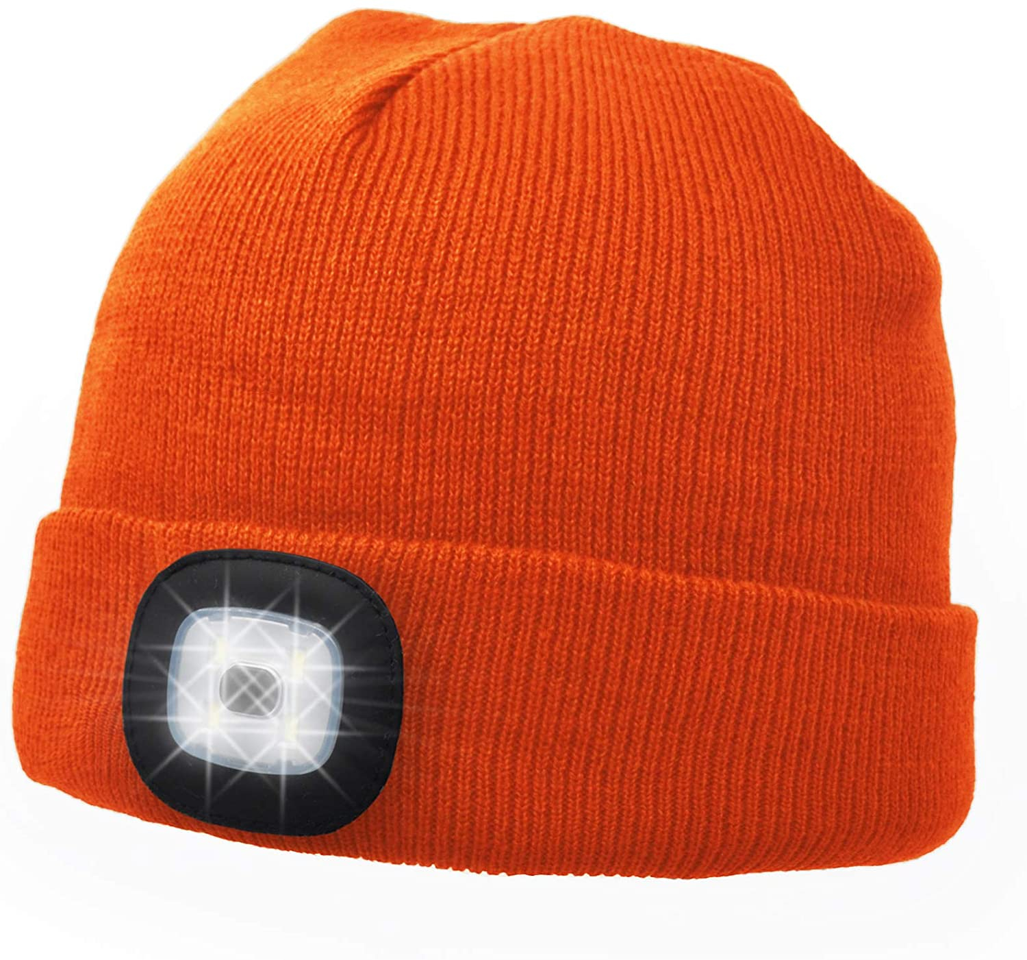 UltraKey LED Headlamp Beanie, Outdoor LED Light Hat for Camping Sports Jogging Walking Grilling Party Holiday, Hat with Light