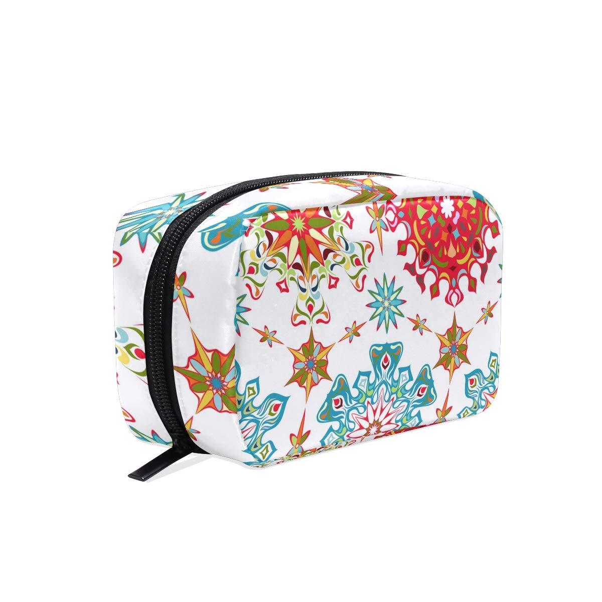 Makeup Bag Portable Travel Cosmetic Bags Roma Flowers Storage Bag for Women Skincare Makeup Train Case
