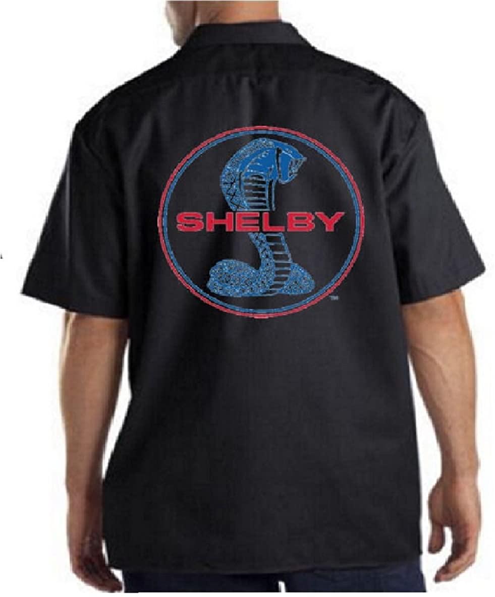 Ford Shelby Cobra Logo Mens Work Shirt Ford Motor Carroll Circle