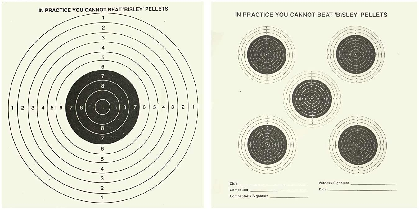Bisley John Rothery Wholesale Double Sided Air Gun Rifle Targets 17X17cm