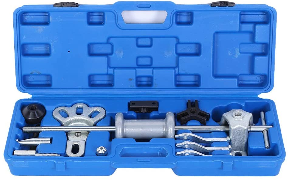 Gorgeri 18pcs Car Wheel Bearing Disassembly Slide Hammer Axle Dent Hub Gear Puller Multifunctional Tool Kit