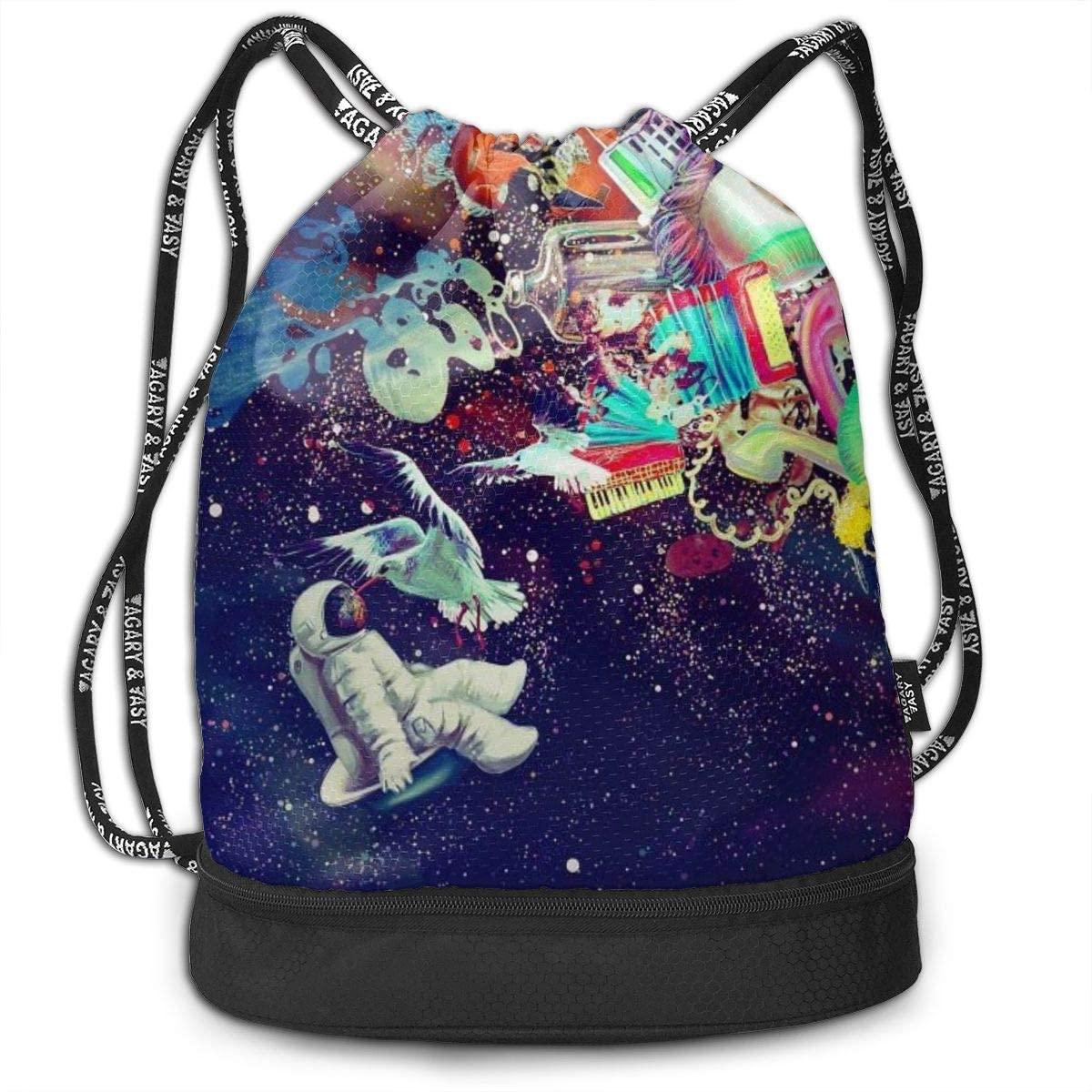 Trippy Gorgerous Space Drawstring Bag Swiming Travel Sackpack Large Capacity Beam Backpack, Home Travel Storage Use Gift For Men & Women, Girls Boys