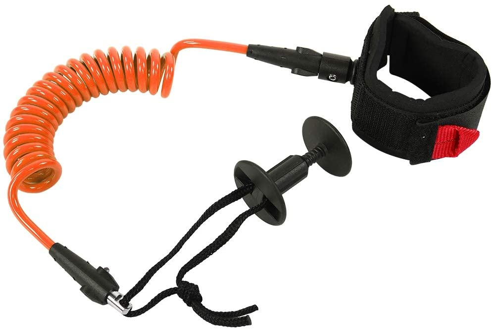 Demeras Sup Coiled Leash Surfing Bodyboard Ankle Leash 5.5MM/5ft Surfing Accessories