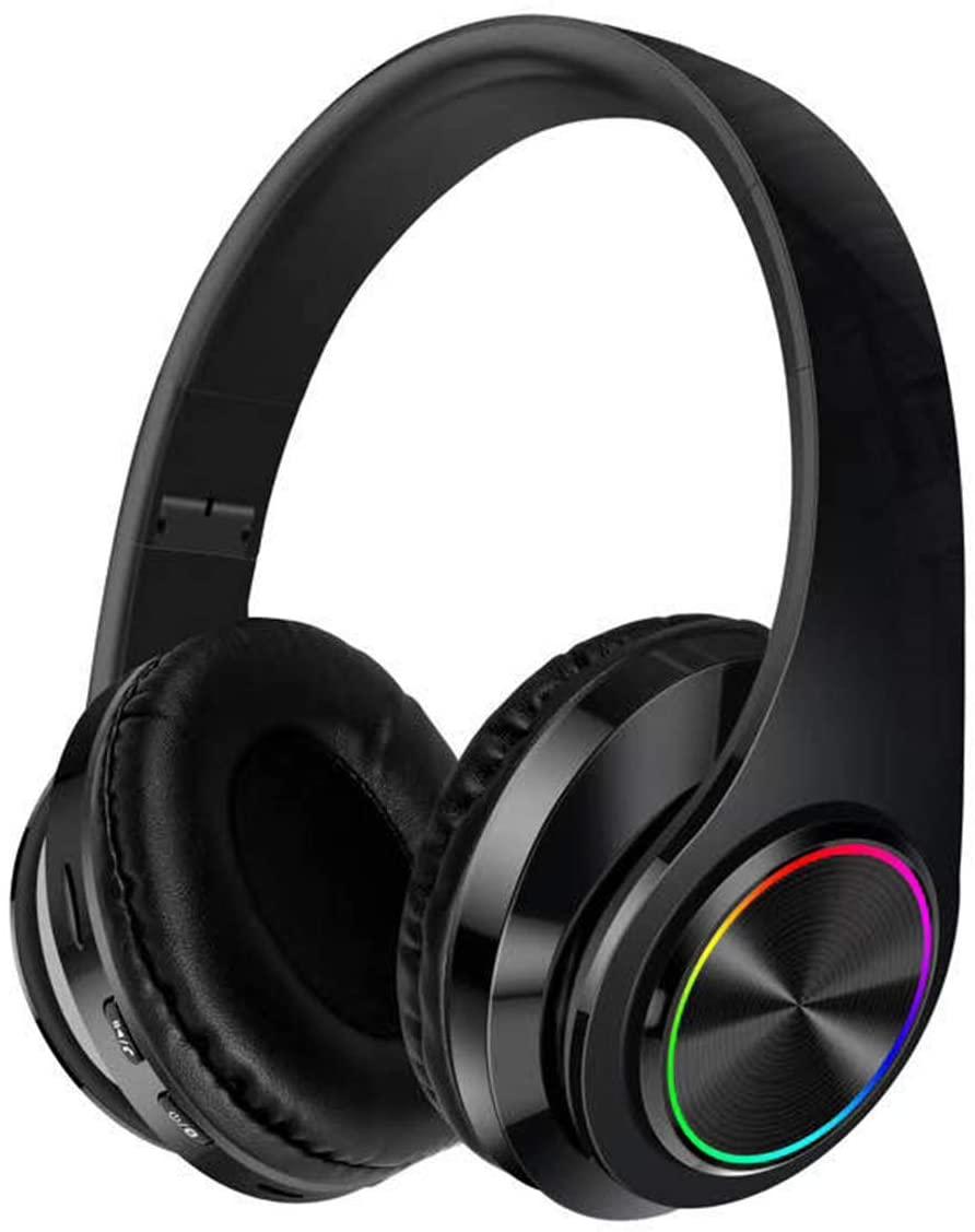 Queen.Y Wireless On-Ear Headphone Foldable Stereo Earphone Noise Concealing Headset w/Mic