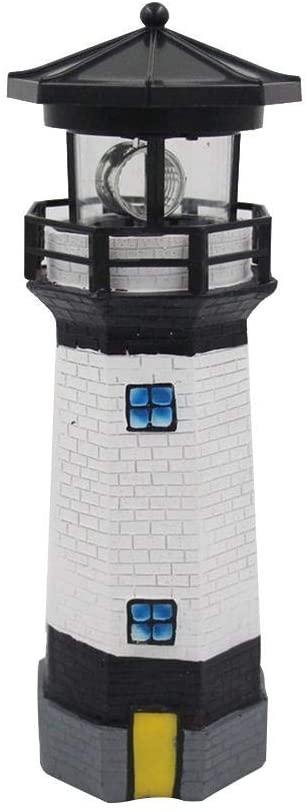 Windmills for Garden Lighthouse Solar Garden Light, Solar Lighthouse LED Rotating Waterproof Outdoor Sensor Light Garden Landscape Decoration Lamp