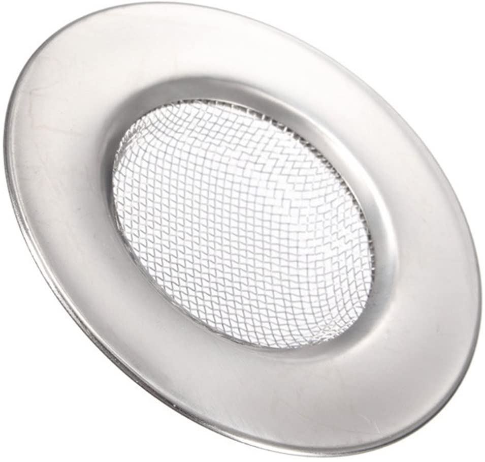 AKOAK 5 Pcs Stainless Steel Sink Filter Bathtub Hair Anti-blocking Net Metal Sink Filter