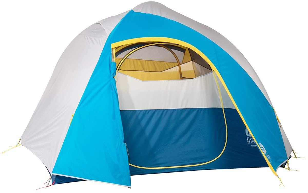 Sierra Designs Nomad 4 & 6 Person Tents, Two Door/Vestibules, Integrated Window, Near Standing Peak for Maximum Livability & More