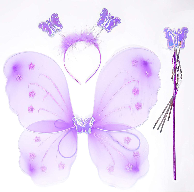 Yuxi Girls Princess Fairy Costume Set with Wings