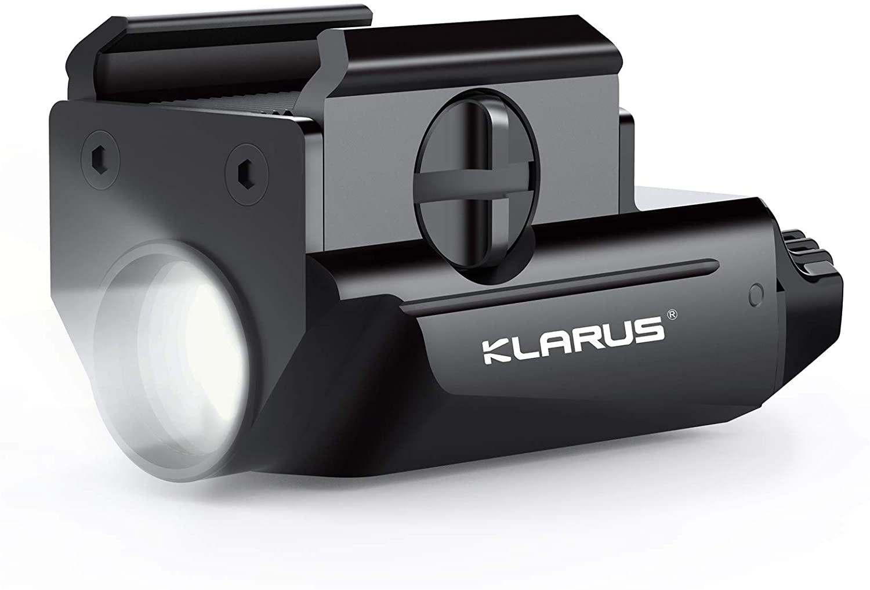 Pistol Light, Klarus 600lm Tactical Flashlight, USB Rechargeable Weapon Flashlight