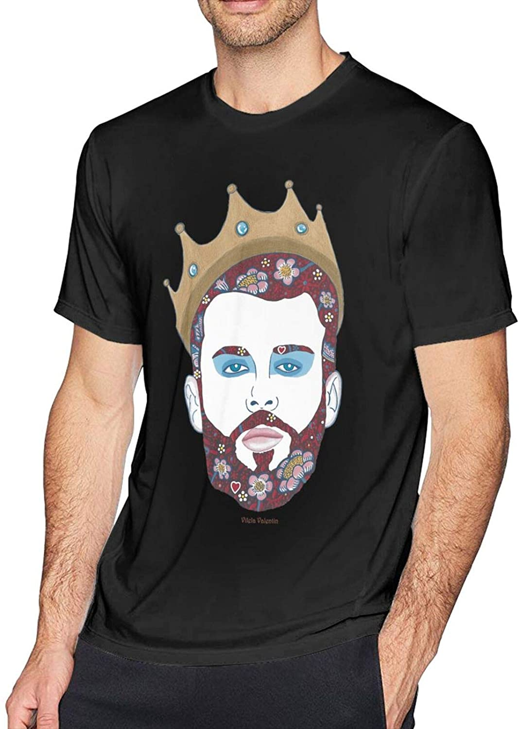 King of Heartsmens Sarcastic Tee Guys Shirt Humorous Graphic Novelty