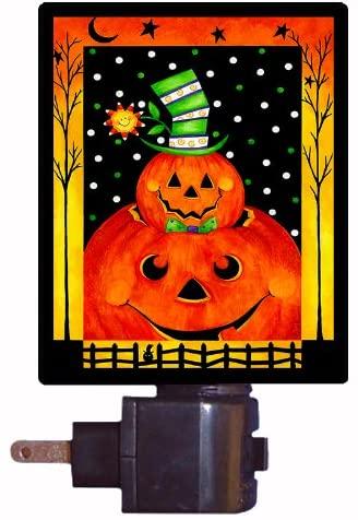 Halloween Night Light, Jack in The Hat, Pumpkin Night Light