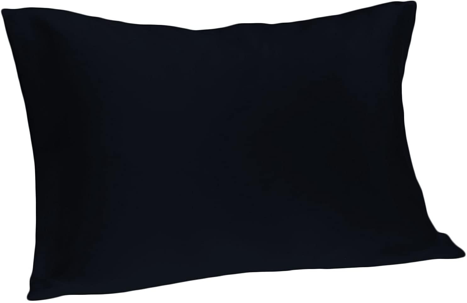 Spasilk 100-Percent Silky Satin Hair Beauty Pillowcase, Standard/Queen, Navy, 20