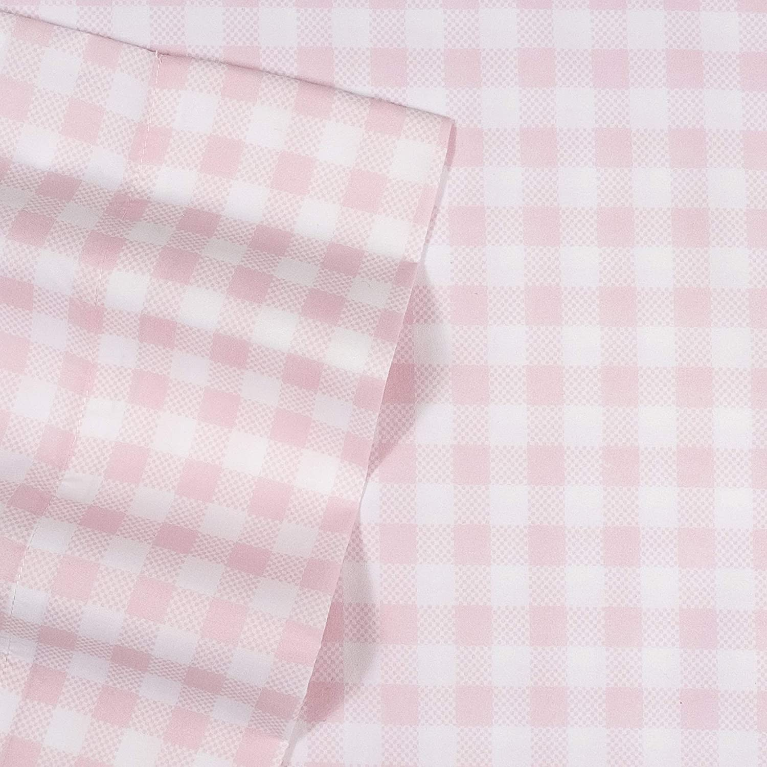 1500 Supreme Kids Bed Sheet Collection - Fun Colorful and Comfortable Boys and Girls Toddler Sheet Sets - Deep Pocket Wrinkle Free Hypoallergenic Soft and Cozy Bedding - Twin XL, Pink Gingham