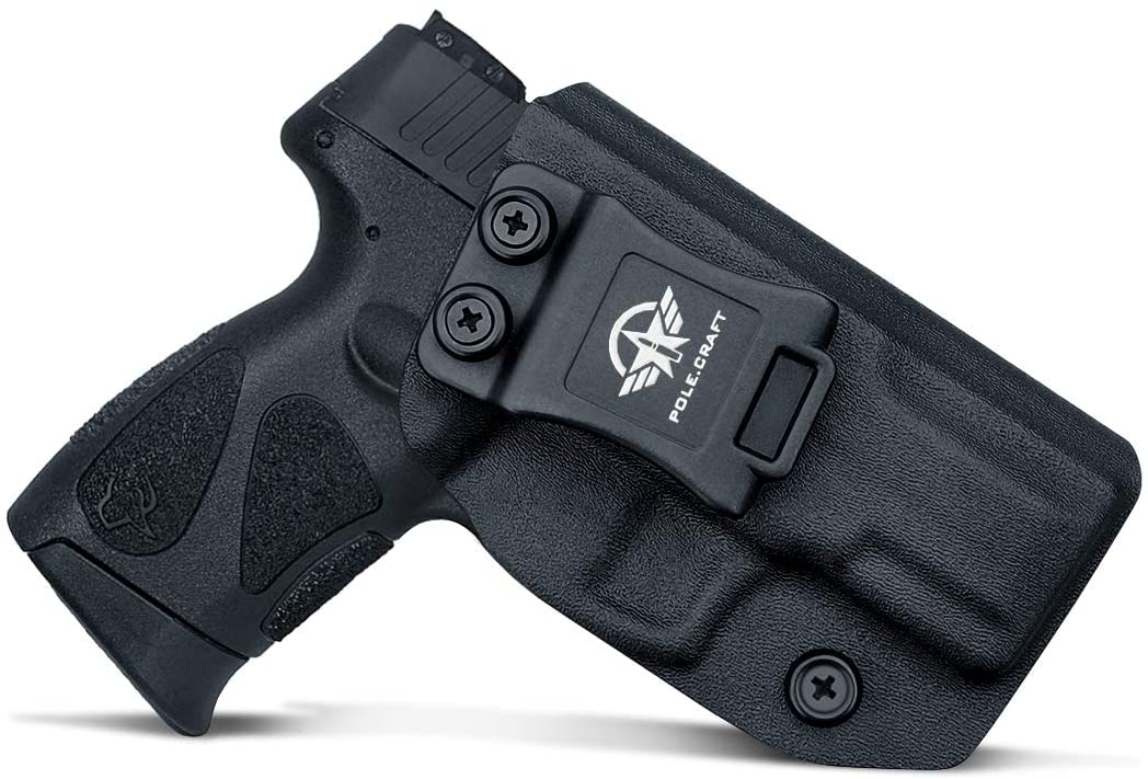 Taurus G2C Holsters, IWB Kydex Holster Custom Fit: Taurus G2C 9mm & Millennium PT111 G2 / PT140 Pistol - Inside Waistband Concealed Carry - Adj. Cant Retention - Cover Mag-Button - No Wear - No Jitter