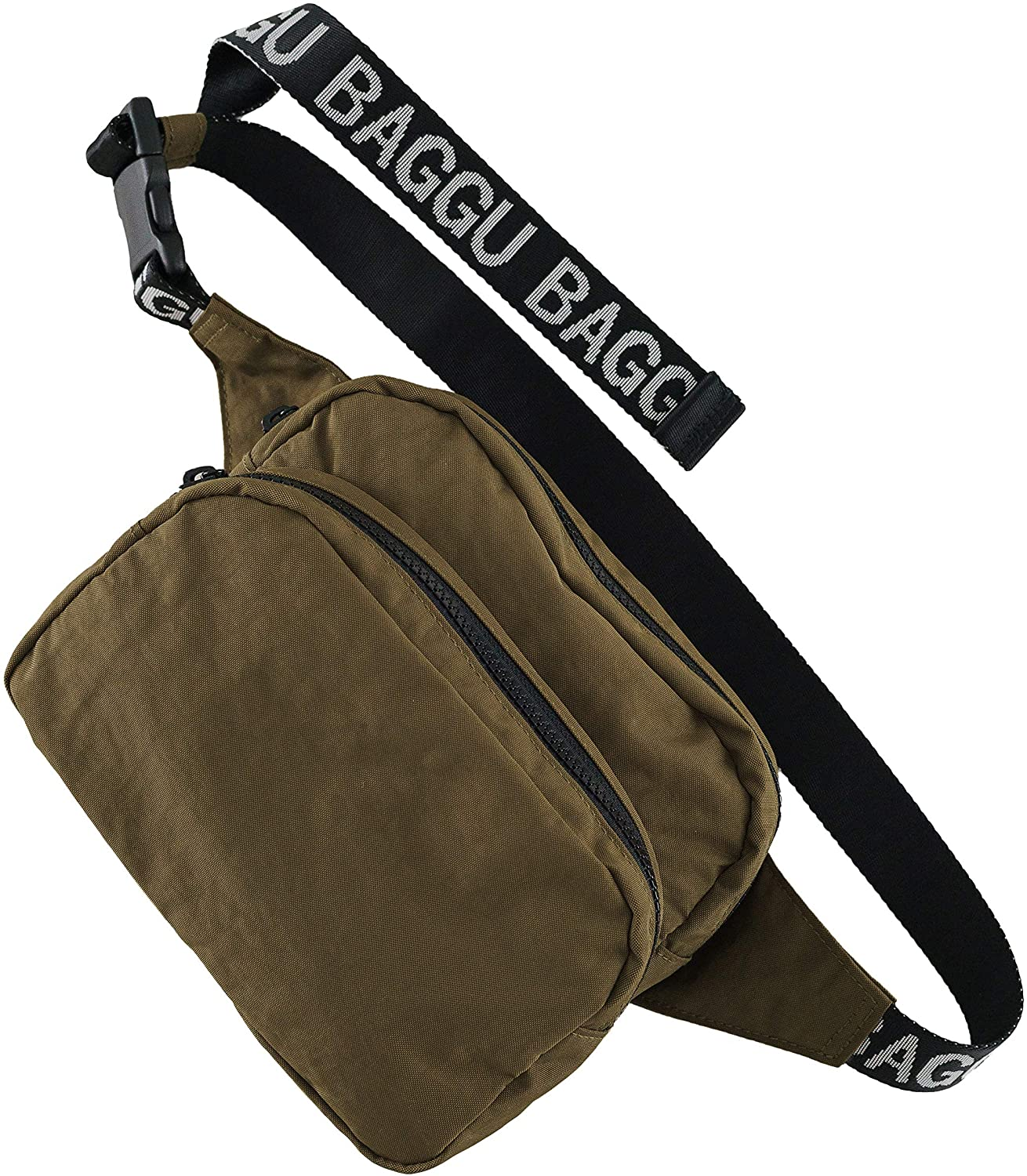 BAGGU Fanny Pack, Fashion Forward and Easy to Carry, Kelp