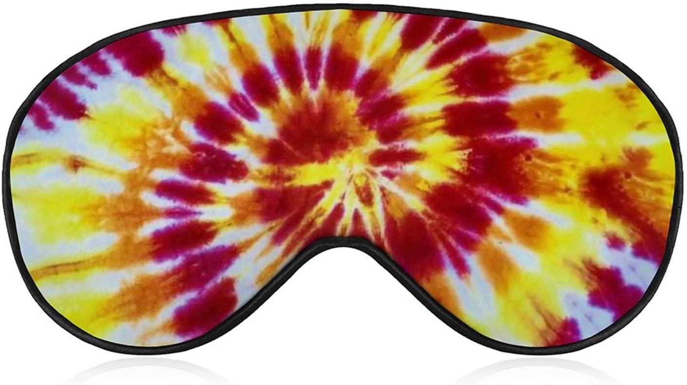 NiYoung Blindfold Sleep Eye Mask Tie Dye Sleep Mask for Men Cooling for Airplane Travel Yoga Nap Adjustable Strap