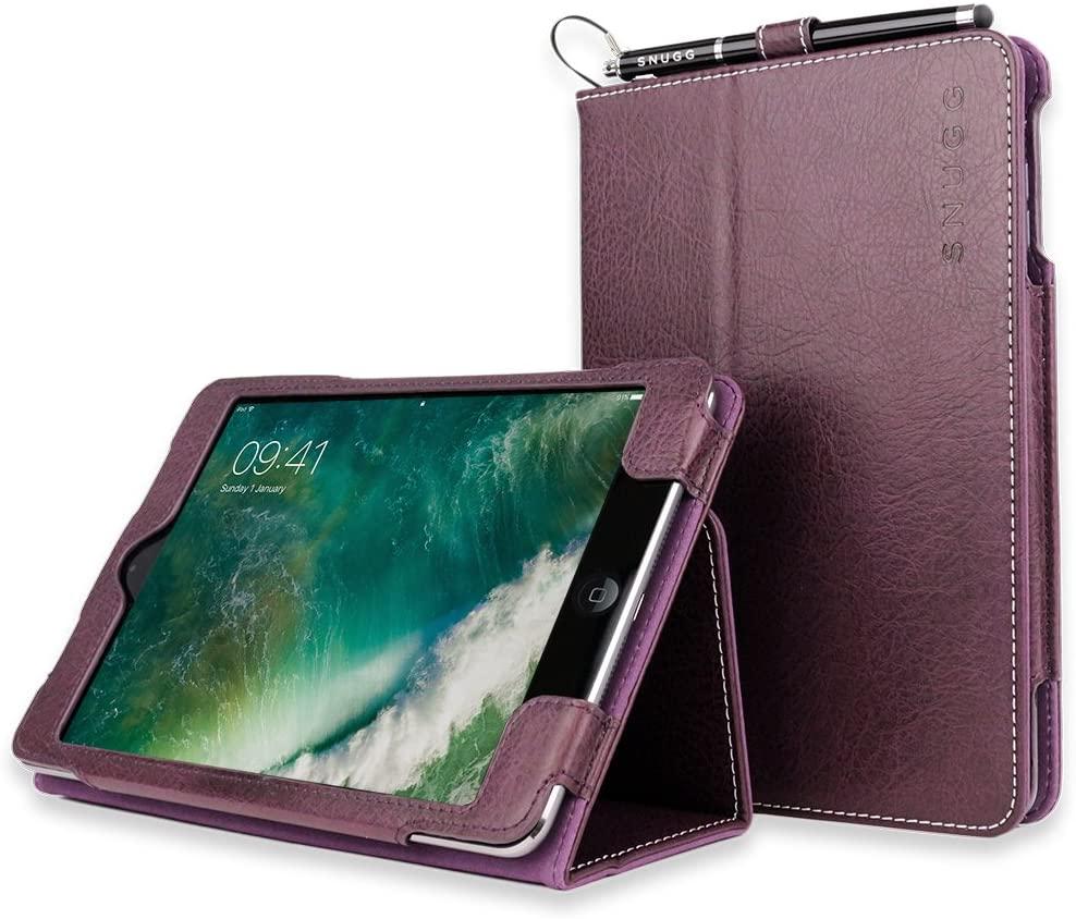 Snugg iPad Mini 1 (2012) / 2 (2013) / 3 (2014) Leather Case, Flip Stand Cover - Amethyst Purple
